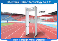 China 6-24 zones walk through metal detector used in hotel, metro station security scanner door frame metal detector usine